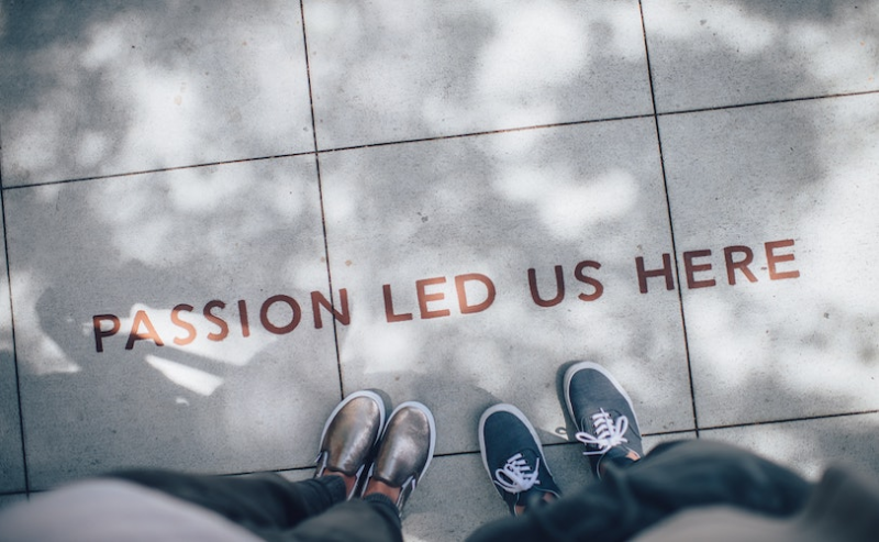 Writing on pavement - passion led us here