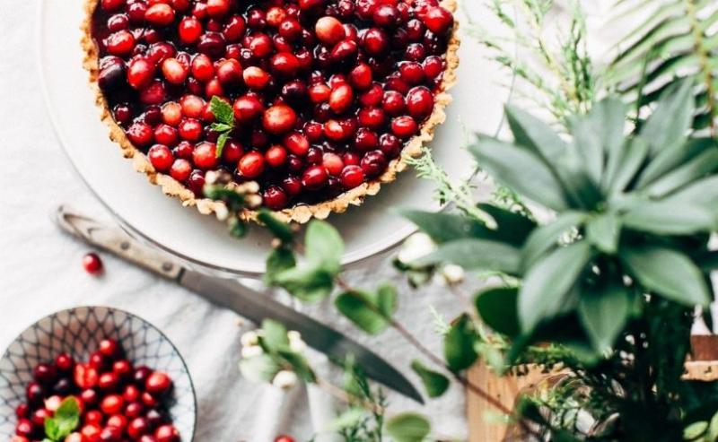 Berry Christmas tart