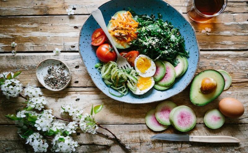 Healthy dinner plate